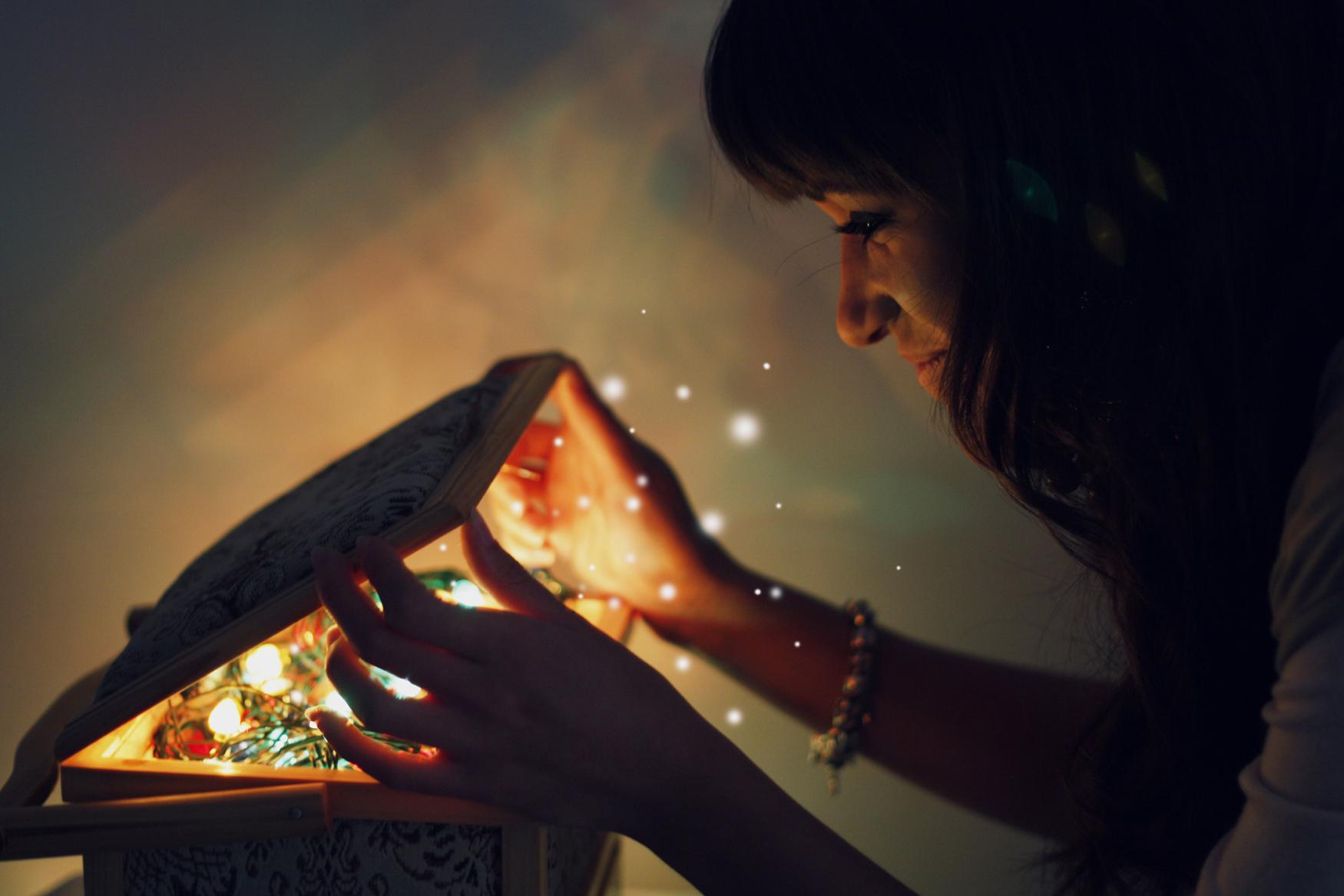 Анимации, открытка волшебство начинается с тебя