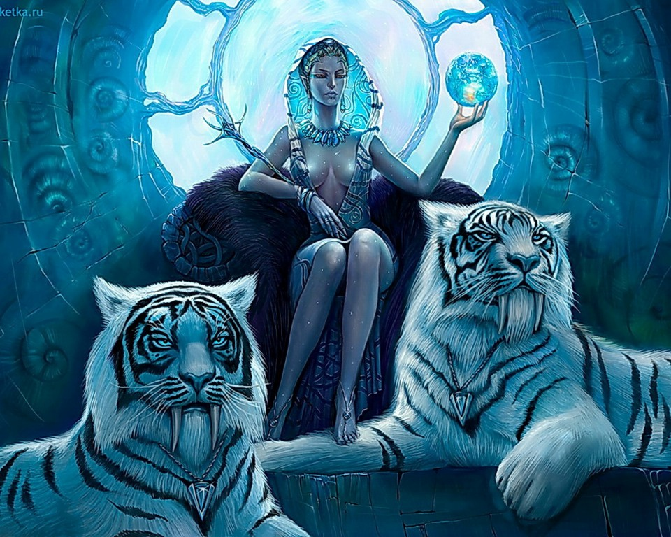 Snow Queen with her Guard Tigers